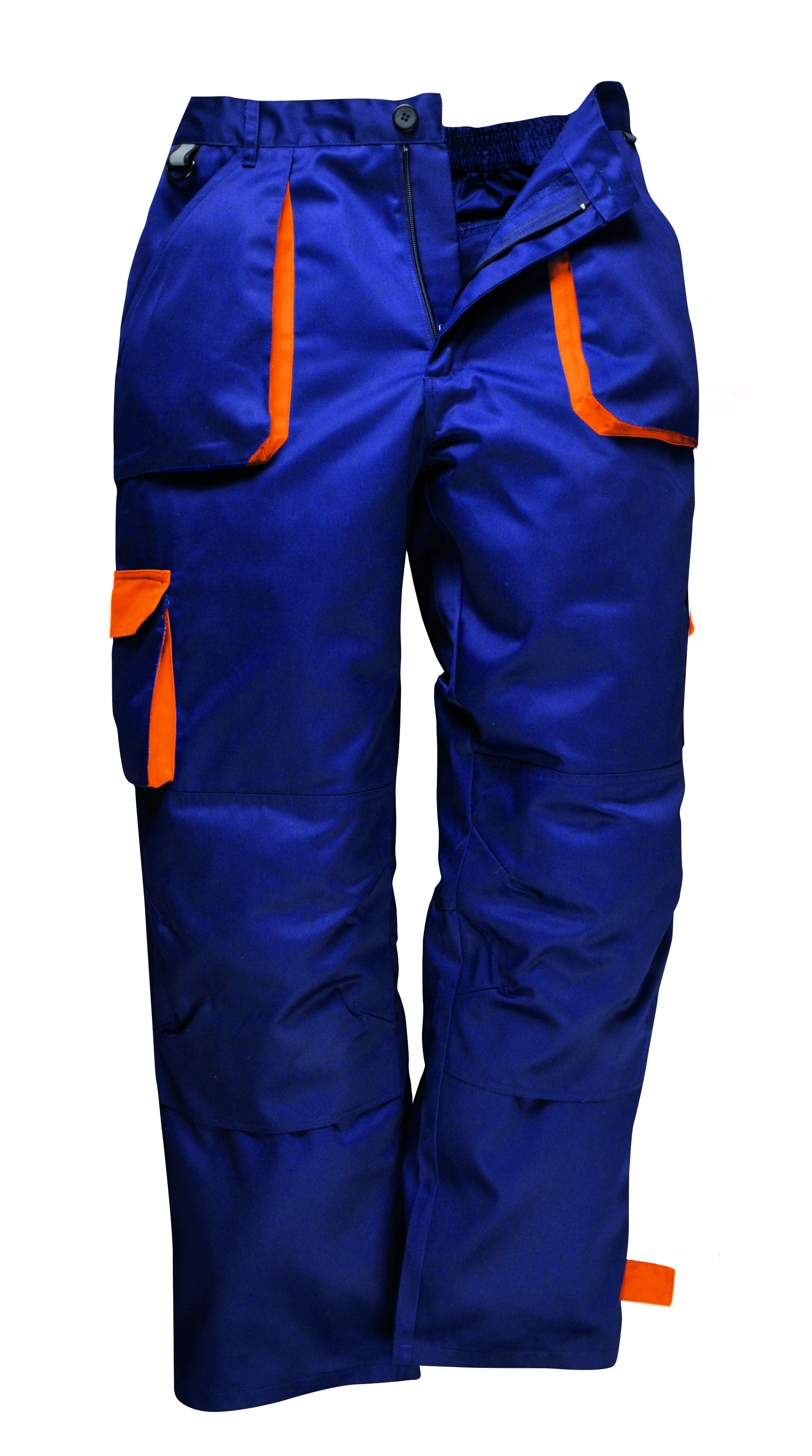 New Portwest Texo Contrast Trouser Elasticated Waistband Work Wear Kneepad Pants