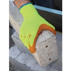 Showa 317 Latex High Visibility Work Glove (Pack of 10)