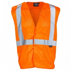 Supertouch 3388 Orange Mesh Vest