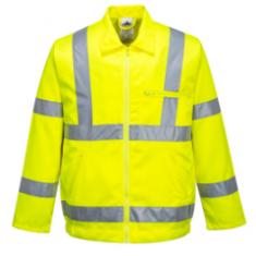 Portwest E040 Poly-Cotton  High Visibility Jacket