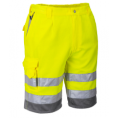 Portwest E043 Poly-cotton  High Visibility Shorts