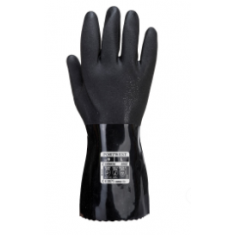 Portwest A882 ESD PVC Chemical Gauntlet Black