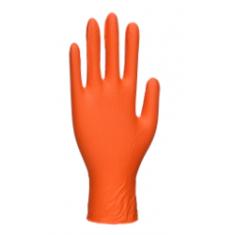 Portwest A930 Orange HD Disposable Gloves Orange (Box of 100)