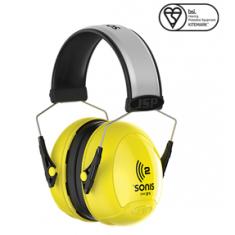 JSP Sonis® 2 AEB020-0B1-C00 Extra Visibility Adjustable Ear Defenders 31dB SNR (Pack of 10)