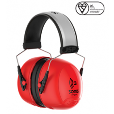 JSP Sonis®3 AEB040-0B1-E00 Extra Visibility Adjustable Ear Defenders 37dB SNR (Pack of 10)