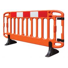 JSP Frontier® KBS079-300-800 2M Traffic Barrier Anti-Trip Black Feet - Orange (Pack of 2)