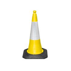 JSP JAZ069-240-200 75cm Dominator™ Yellow Cone with Sealbrite™ Sleeve (Pack of 10)