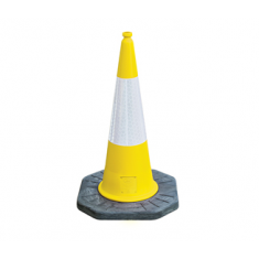 JSP JAB079-240-200 1m Dominator™ Yellow Cone with Sealbrite™ Sleeve (Pack of 10)