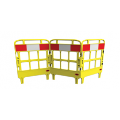JSP KBT023-000-200 Portagate® 3 Gate Compact Barrier - Yellow