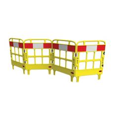 JSP KBU023-000-200 Portagate® 4 Gate Compact Barrier - Yellow