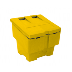 JSP HPK490-000-200 Small 50kg Grit Salt Bin - Yellow