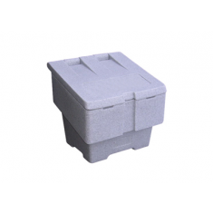 JSP HPK490-00S-300 Small 50kg Grit Salt Bin - Granite