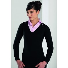 Women's V-Neck Knitted Sweater