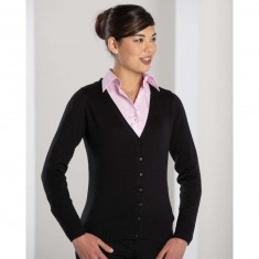 Russell Collection 715F Ladies' V-neck Knitted Cardigan