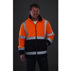 Yoko HVK08 High Visibility 2 Band & Brace Fleece Jacket