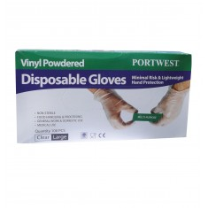 Portwest A900 Powdered Vinyl Disposable Glove