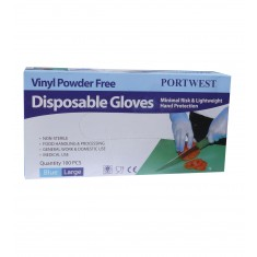 Portwest A905 Powder Free Vinyl Disposable Glove