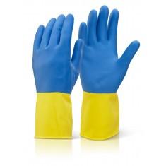 Beeswift BCYBL Bi Colour Heavyweight Glove (Pack of 10)