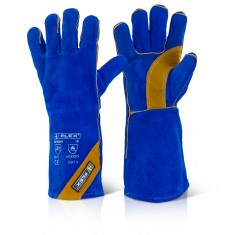 Beeswift BFHQW Category 2 Blue Gold Welder Glove
