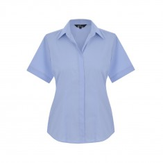 Disley BH903 Fly Front Women's Short Sleeve Blouse