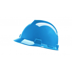 MSA V-Gard® MSA124 Safety Helmet with Fas-Trac Suspension & Sewn PVC sweatband