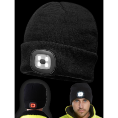 Portwest BO28 Rechargeable Twin LED Beanie