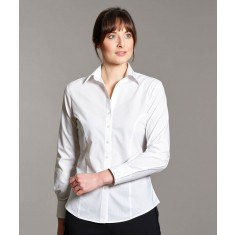 Disley BRIANNA LL130 Self Stripe Corporate Ladies Long Sleeve Blouse