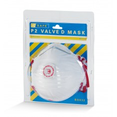 Beeswift BS032 Pre Packed P2 Valved Disposable Mask (Pack of 3)