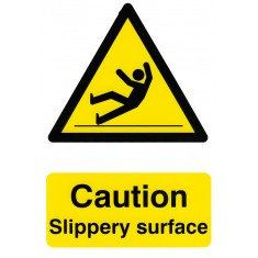 Beeswift BSS1108 Self Adhesive Backing ''Caution Slippery Surface'' Safety Sign