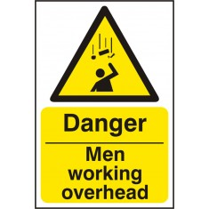 Beeswift BSS11114 Rigid PVC ''Danger Men Working Overhead'' Safety Sign (Pack of 5)