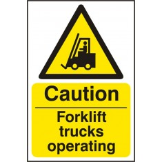 Beeswift BSS11132 Rigid PVC  ''Caution Forklift Trucks Operating'' Safety Sign (Pack of 5)