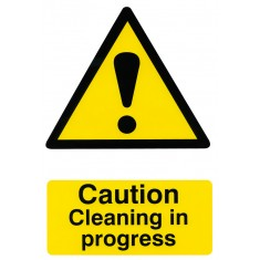 Beeswift BSS1114 Self Adhesive Backing ''Caution Cleaning in Progress'' Safety Sign