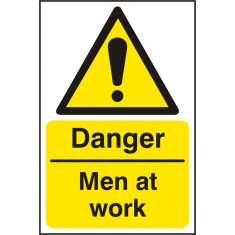 Beeswift BSS11195 Self Adhesive Vinyl 'Danger Men at Work' Safety Sign (Pack of 5)