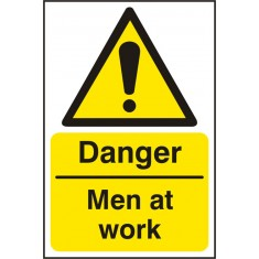 Beeswift BSS11196 Rigid PVC 'Danger Men at Work' Safety Sign (Pack of 5)