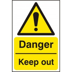 Beeswift BSS11227 Self Adhesive Vinyl 'Danger Keep Out' Safety Sign (Pack of 5)