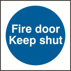 Beeswift BSS11324 Self Adhesive Vinyl 'Fire Door Keep Shut' Safety Sign (Pack of 5)