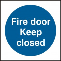 Beeswift BSS11340 Self Adhesive Vinyl 'Fire Door Keep Closed' Safety Sign (Pack of 5)