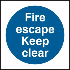 Beeswift BSS11348 Self Adhesive Vinyl 'Fire Escape Keep Clear' Safety Sign (Pack of 5)