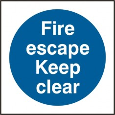 Beeswift BSS11350 Self Adhesive Vinyl 'Fire Escape Keep Clear' Safety Sign (Pack of 5)