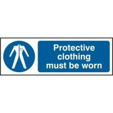 Beeswift BSS11380 Self Adhesive Vinyl 'Protective Clothing must be Worn' Safety Sign (Pack of 5)