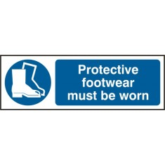 Beeswift BSS11385 Rigid PVC 'Protective Footwear must be Worn' Safety Sign (Pack of 5)