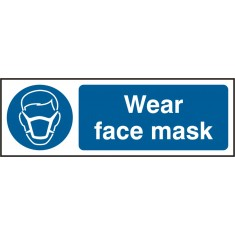 Beeswift BSS11388 Self Adhesive Vinyl 'Wear Face Mask' Safety Sign (Pack of 5)
