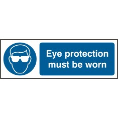 Beeswift BSS11396 Self Adhesive Vinyl 'Eye Protective Must be Worn' Safety Sign (Pack of 5)