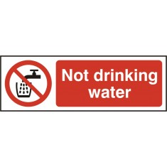 Beeswift BSS11676 Self Adhesive Vinyl 'Not Drinking Water' Safety Sign (Pack of 5)