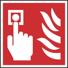 Beeswift BSS11690 Self adhesive vinyl Fire Alarm Call Point Symbol Sign (Pack of 5)