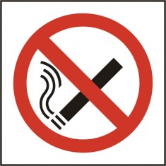Beeswift BSS11840 Self Adhesive Vinyl 'No Smoking' Symbol Safety Sign (Pack of 5)