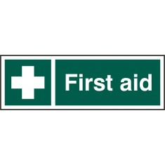 Beeswift BSS12050 Self adhesive vinyl First Aid Sign (Pack of 5)