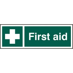 Beeswift BSS12051 Rigid PVC First Aid Sign (Pack of 5)