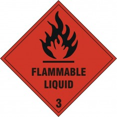 Beeswift BSS1858S Self adhesive vinyl  Flammable Liquid Sign (Pack of 5)