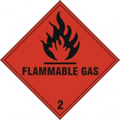 Beeswift BSS1859S Self adhesive vinyl Flammable Gas Sign (Pack of 5)